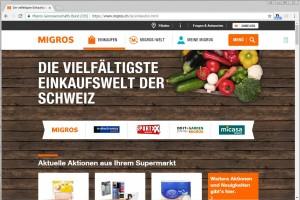 Screenshot Migros Einkaufen