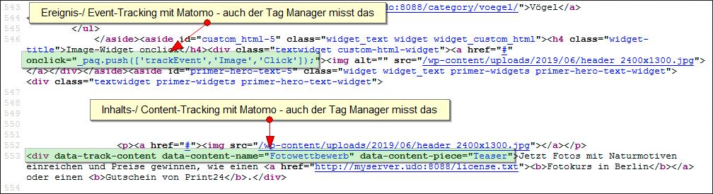 Matomo HTML-Verpixelunge